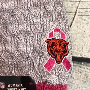 NFL Accessories - Chicago Bears football breast cancer beanie hat 5fad1d705